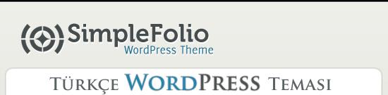 Simplefolio Türkçe WordPress Teması, WP Theme