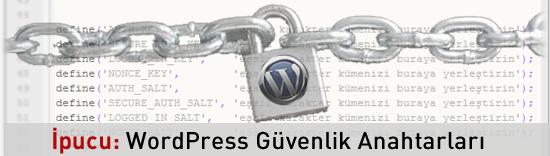 WordPress Güvenlik Anahtarı - Security Key