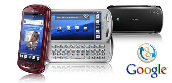 Sony Ericsson Google Sync Hizmeti