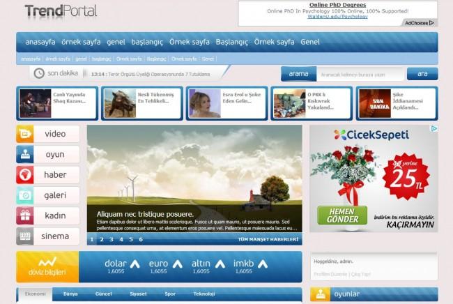 TrendPortal, TrendWP, WordPress Portal Teması