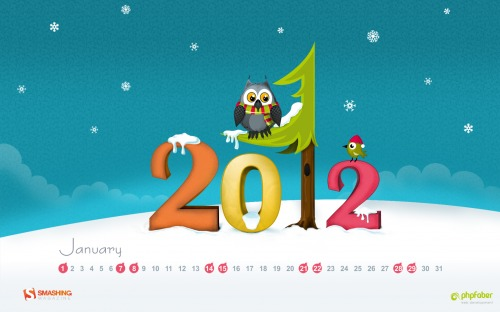 Ocak 2012 Masaüstü Wallpaper